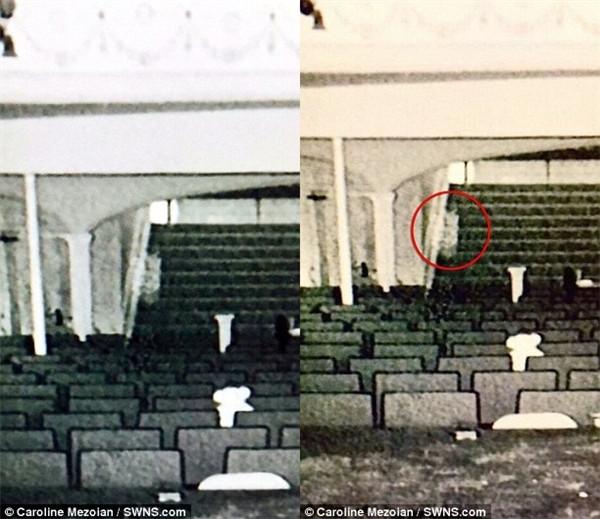 Đây là những bức ảnh đầu tiên mà nhóm của Caroline ghi được từ nhà hát xưa cũ này.