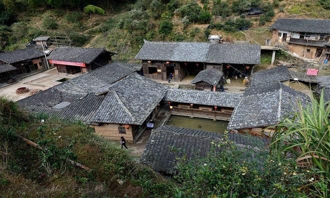 Xung quanh làng có những cánh rừng rậm rạp cùng không khí trong lành.