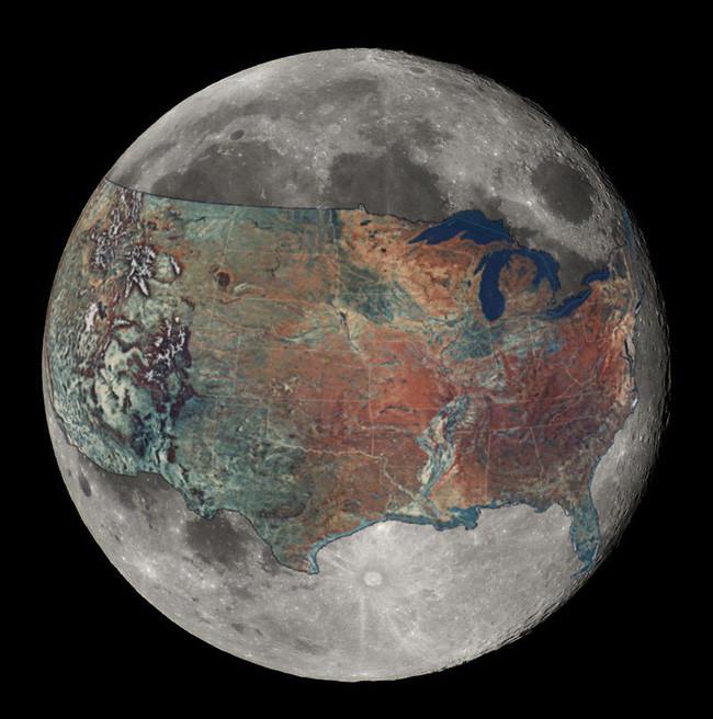 Trải cả nước Mỹ lên Mặt trăng