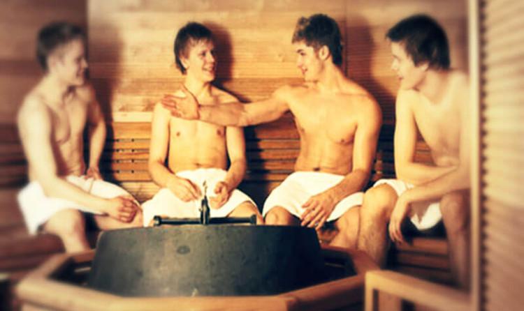 Đổ mồ hôi trong phòng tắm hơi có thể ví với việc tập thể dục.