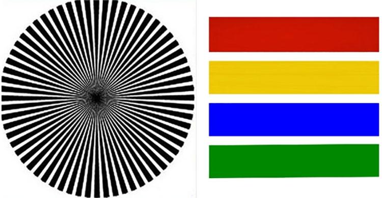 Bạn thấy màu gì đầu tiên khi nhìn vào trọng tâm hình tròn này?