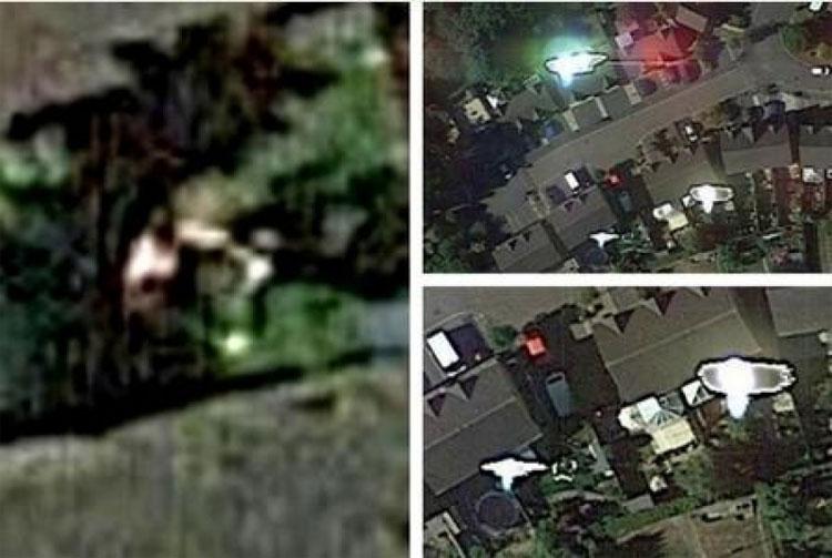 """Những hình ảnh từ Google Earth ghi lại cảnh """"bắt cóc"""" John Mooner."""