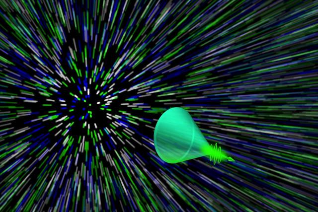 Camera ghi lại được cả đường đi chuyển động tốc độ của ánh sáng trong thực tế