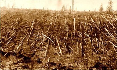 Sự kiện Tunguska ở Siberia, Nga đã phá hủy khu rừng với 80 triệu cây.