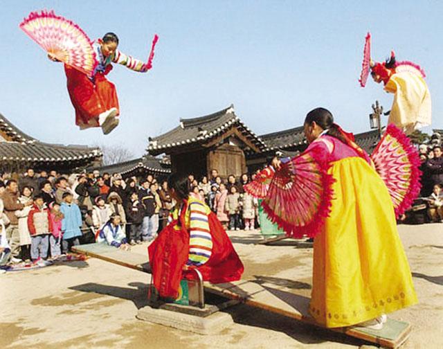 Các hoạt động vui chơi chào đón năm mới của người Hàn Quốc thường chỉ diễn ra trong 3 ngày
