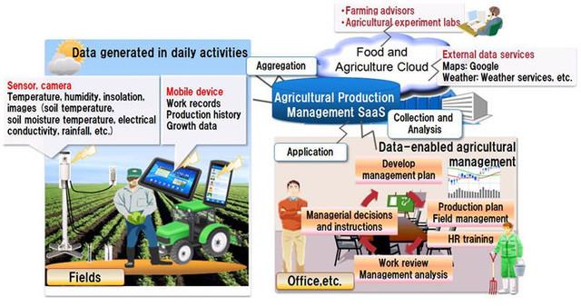 Nhờ công nghệ điện toán đám mây mà người nông dân có thể sử dụng các cảm biến trên thực địa để phân tích và cho ra những quyết định tối ưu nhất.