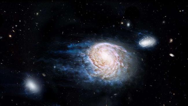 Trong các thiên hà đều có chứa những đám mây hydro