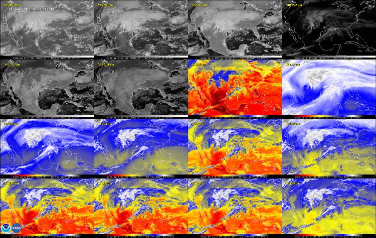 Dữ liệu ảnh chưa qua xử lý từ vệ tinh GOES-16.