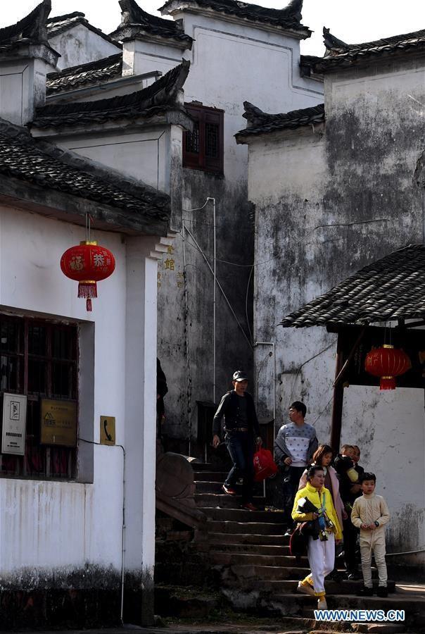 Làng Tề Vân Sơn được xây dựng trên núi Tề Vân, phía đông tỉnh An Huy (Trung Quốc).