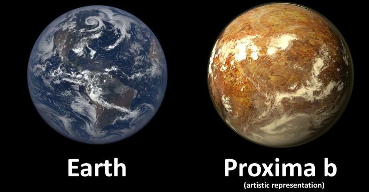 Proxima b - người anh em của Trái đất.