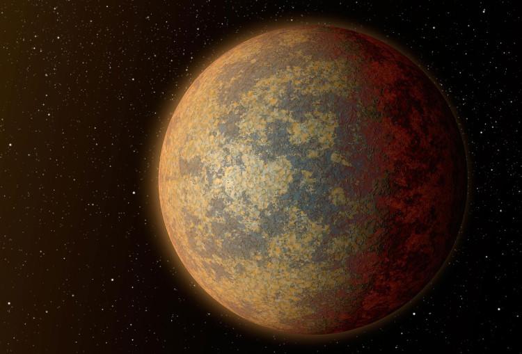 Hình ảnh phỏng đoán bề ngoài của hành tinh nằm ngoài hệ Mặt trời.