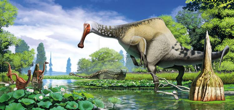 Deinocheirus là thành viên lớn nhất của nhóm ornithomimosaurs
