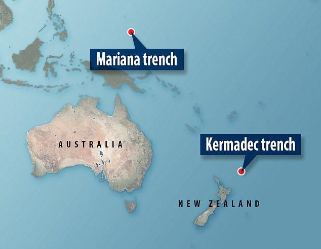 Rãnh Mariana và Kermadec - 2 vùng biển.