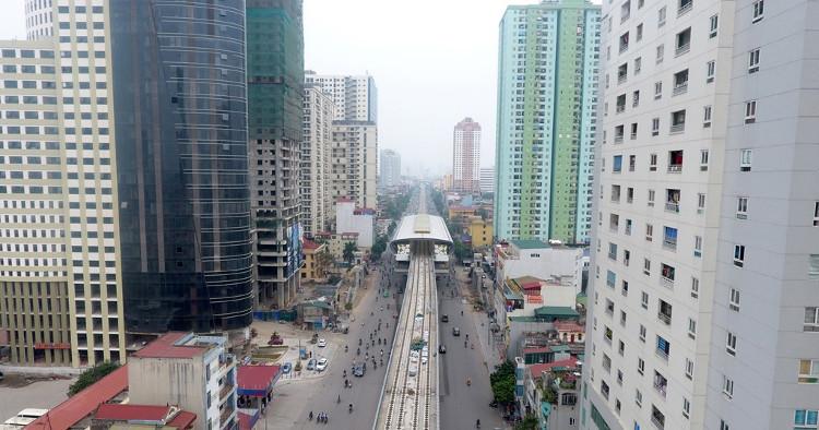 Ga Văn Quán (quận Hà Đông) dự kiến là một trong những điểm có lượng hành khách lớn bởi nơi đây mật độ nhà cao tầng dày đặc.