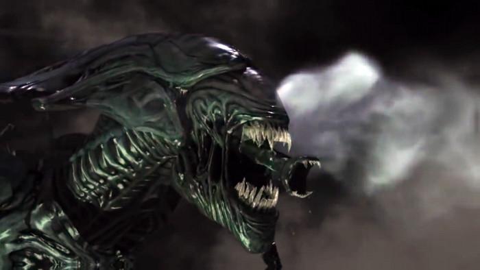 """Trong ảnh là cảnh tượng một sinh vật ngoài hành tinh trong bộ phim """"Alien"""" sử dụng hàm phụ để bắt giết con mồi."""