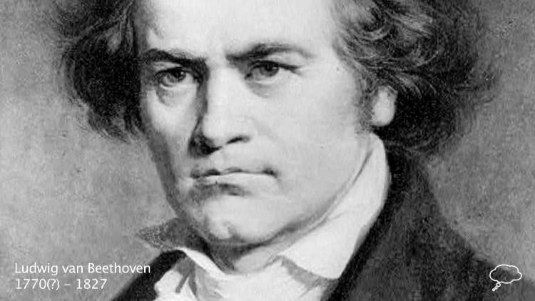 Nhà soạn nhạc Ludwig van Beethoven.