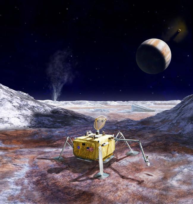 NASA có kế hoạch thu thập mẫu đất đá, băng tuyết từ Mặt trăng Europa của sao Mộc.