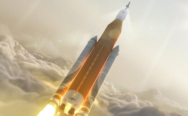 Mô phỏng một sứ mệnh được phóng lên bởi hệ thống phóng tên lửa SLS mạnh mẽ.