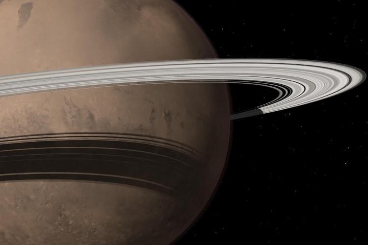 Sao Hỏa có thể hình thành vành đai bao quanh từ các mặt trăng của nó.