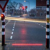 Đèn giao thông trên vỉa hè ở Hà Lan