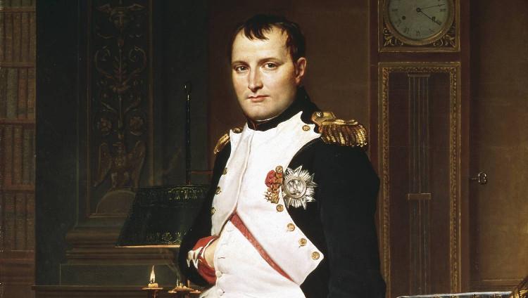 Chân dung hoàng đế Pháp Napoleon Bonaparte.