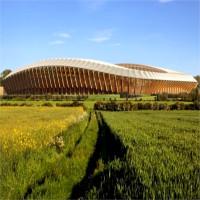 Video: Sân vận động làm bằng gỗ đầu tiên trên thế giới