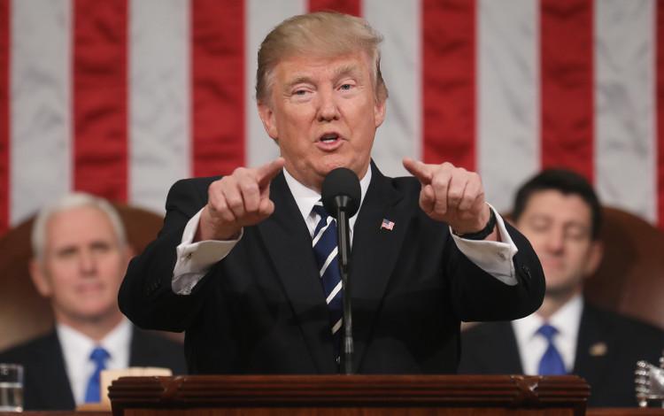 Tổng thống Donald Trump phát biểu trước Quốc hội Hoa Kỳ vào đêm 28/2 vừa qua.