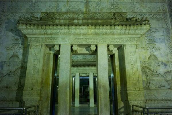 Cửa vào khu lăng mộ Càn Long.