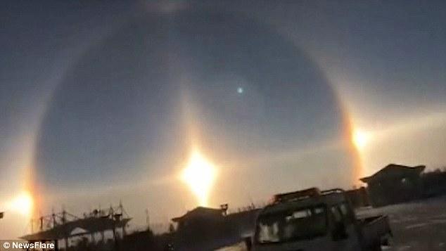3 mặt trời đã xuất hiện cùng lúc tại đường chân trời