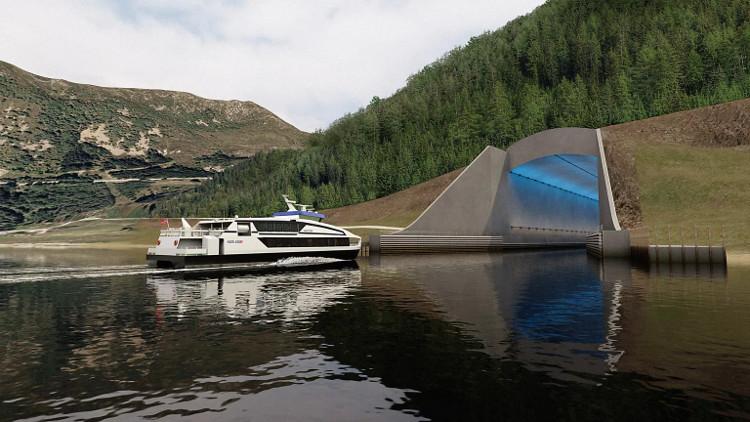 Đường hầm sẽ giúp những con tàu tránh gió và di chuyển an toàn hơn.