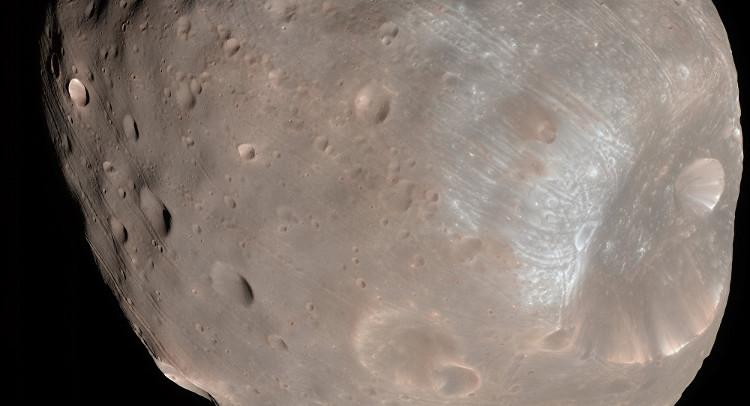 Phobos, một trong hai Mặt Trăng của Sao Hỏa.