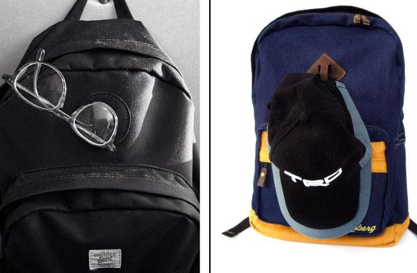 """""""Mũi heo"""" trên balo có thể dùng để treo kính, hay móc mũ cũng rất tiện."""