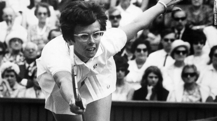 Bà Billie Jean King.