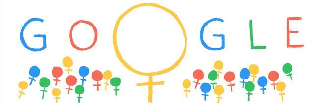 Vào ngày Quốc tế Phụ nữ 8/3, Google thường thay đổi logo trên trang tìm kiếm của mình thành những nội dung thú vị