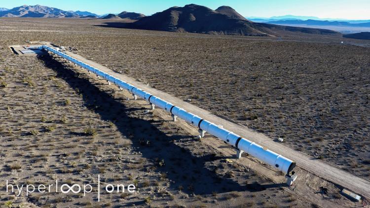 Chỉ mất 12 phút để thực hiện quãng đường 159km với tàu Hyperloop.