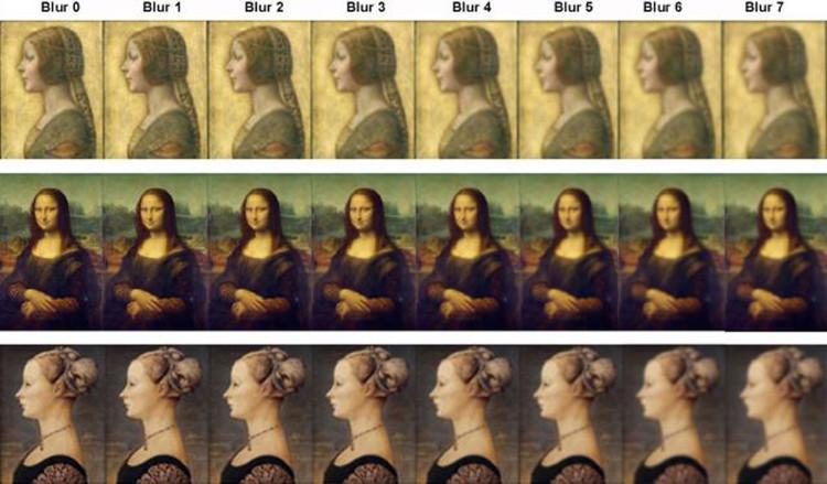 Đội nghiên cứu đã dịch chuyển miệng của nàng Mona Lisa theo nhiều góc độ khác nhau