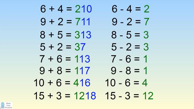 Số đầu tiên chính là kết quả của phép trừ 2 số bên vế trái.