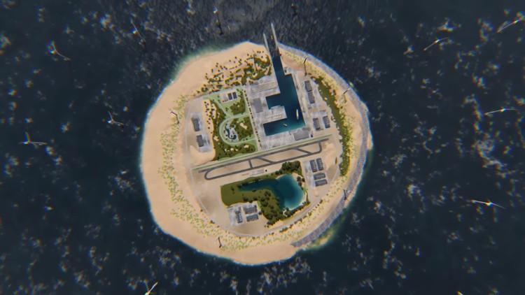 Hòn đảo với diện tích 2,5 dặm vuông.