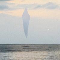 """""""UFO huyền thoại"""" 13.000 năm trước tái hiện, treo lơ lửng trên biển?"""