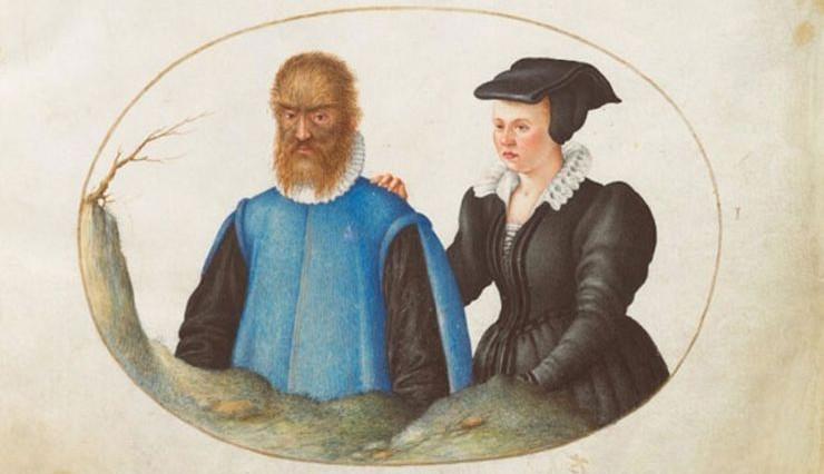 Hình vẽ Petrus Gonsalvus và vợ Catherine.