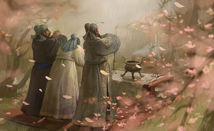 Lưu Bị, Quan Vân Trường và Trương Phi kết nghĩa huynh đệ tại vườn đào năm nào.