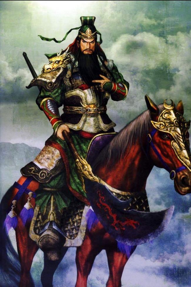 Hỉnh ảnh Thanh Long đao, ngựa Xích thố luôn gắn liền với Quan Công.