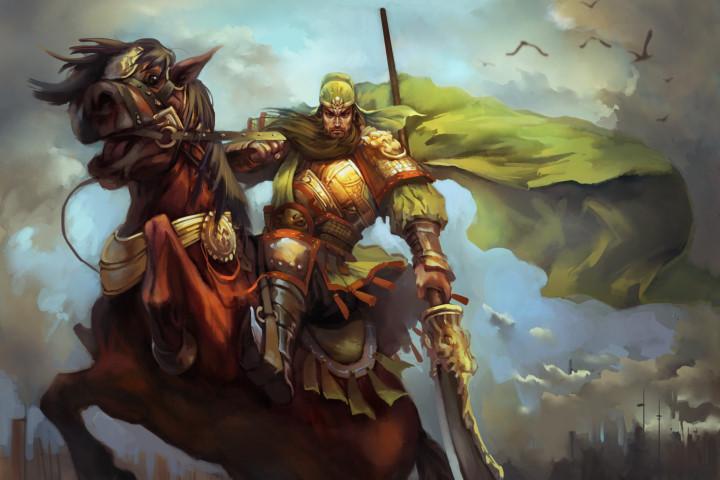 Quan Vân Trường là một chiến tướng oai phong lẫm liệt, phong thái uy nghiêm như một vị thần.