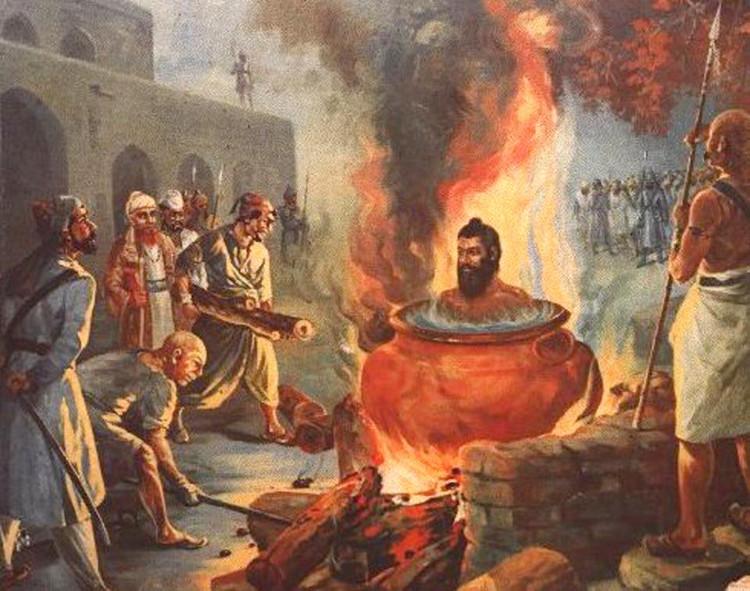 Trừng phạt bằng cách đun sôi là một án tử hình kinh hoàng, nạn nhân bị trói cứng trong một nồi nước hoặc một vạc dầu.