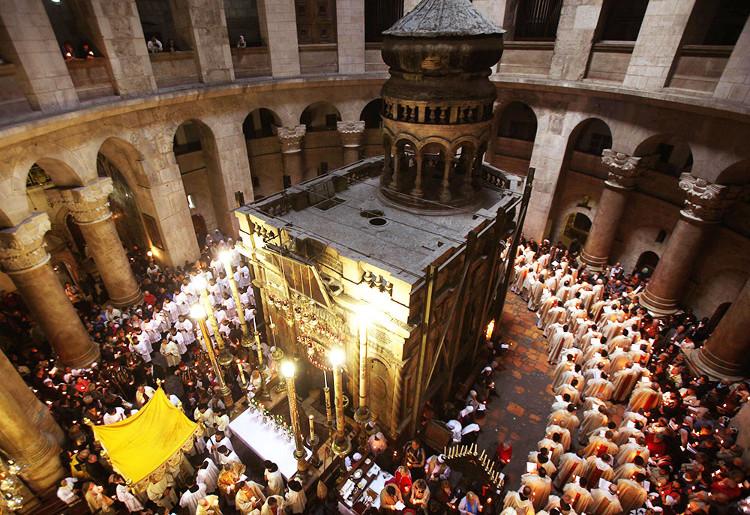 Điện thờ Edule ở Israel, nơi được cho là chôn cất thi hài của Chúa Jesus.