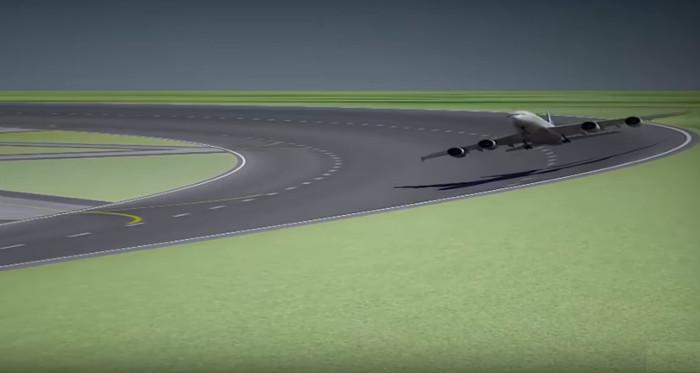 Đường băng sân bay hình tròn.