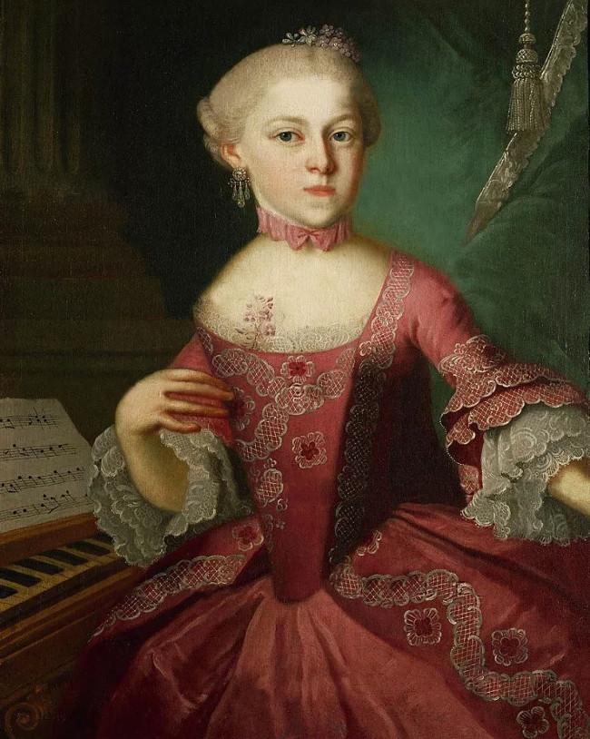 Chân dung Nannerl chị gái Mozart.