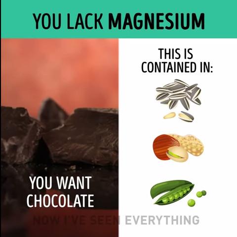 Thèm chocolate chứng tỏ cơ thể thiếu magie, cần bổ sung bằng cách ăn thêm hạt hướng dương, đậu hà lan, hạt dẻ...