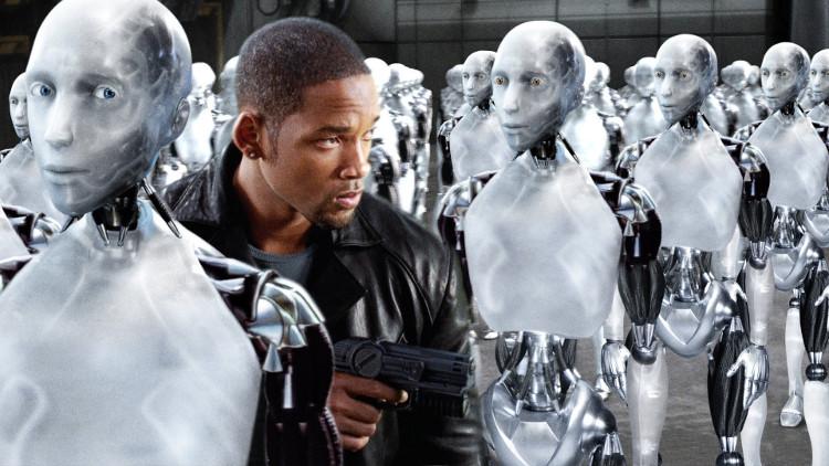 """1 cảnh trong bộ phim """"I, Robot"""""""