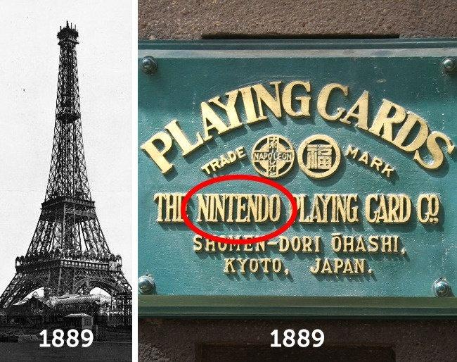 Nintendo và tháp Eiffel - thứ nào có trước?